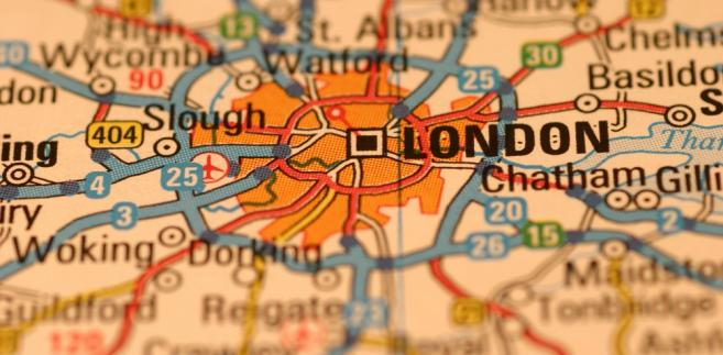 Mapa Londynu