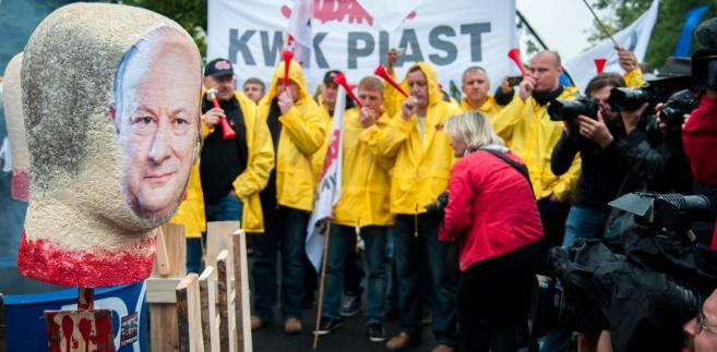 Protest związkowców z Solidarności w Warszawie. Fot. Maciek Suchorabski