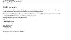 Print Screen fałszywego e-maila