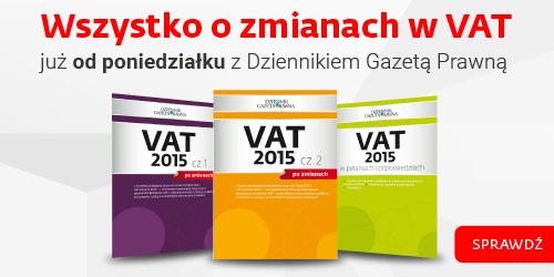 Zmiany w VAT 2015