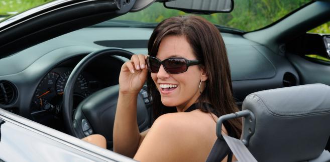 kobieta, auto, samochód