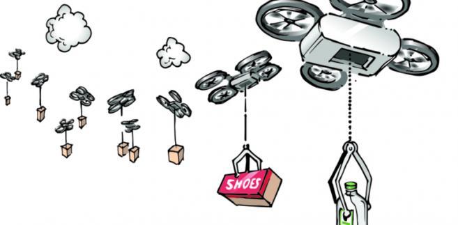 Logistyka przyszłości: dronem, do bagażnika, do ogródka