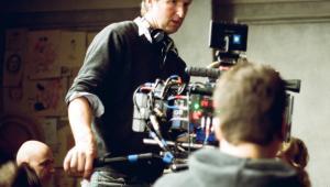 Tom Hooper na planie filmu Dziewczyna z portretu