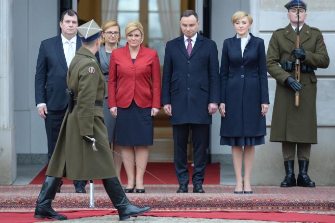 Prezydent Chorwacji w Warszawie źródło: PAP