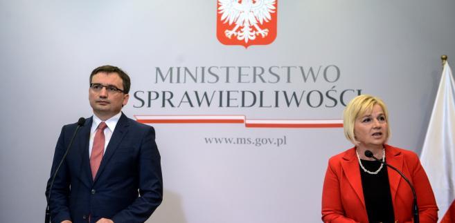 Zbigniew Ziobro i Lidia Staroń