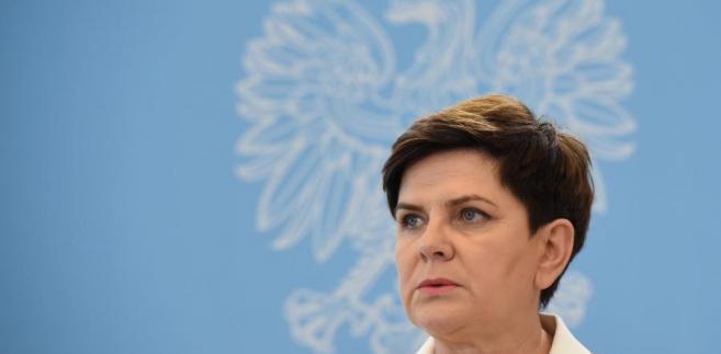 Premier Beata Szydło podczas konferencji prasowej po posiedzeniu rządu.