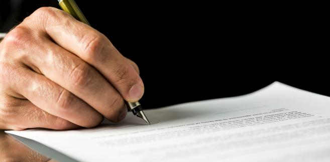 podpis, dokument, akt, prawo