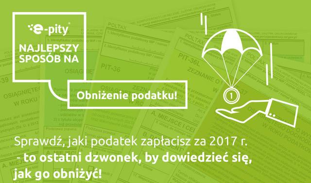 Zadbaj o obniżenia podatku PIT 2017