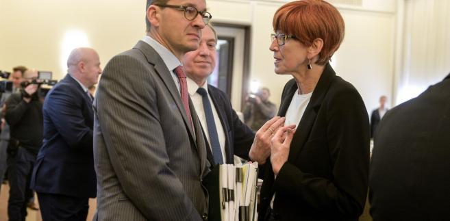 Eżbieta Rafalska rozmawia z Mateuszem Morawieckim