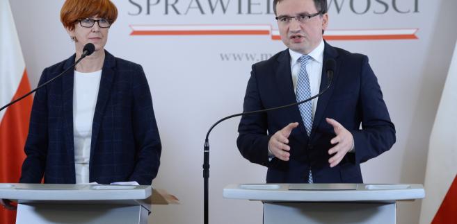 Zbigniew Ziobro i Elżbieta Rafalska