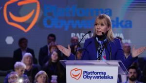 Unijna komisarz Elżbieta Bieńkowska podczas Rady Krajowej PO w Warszawie.