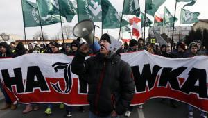 Jeden z organizatorów marszu Dawid Marek Poleszuk