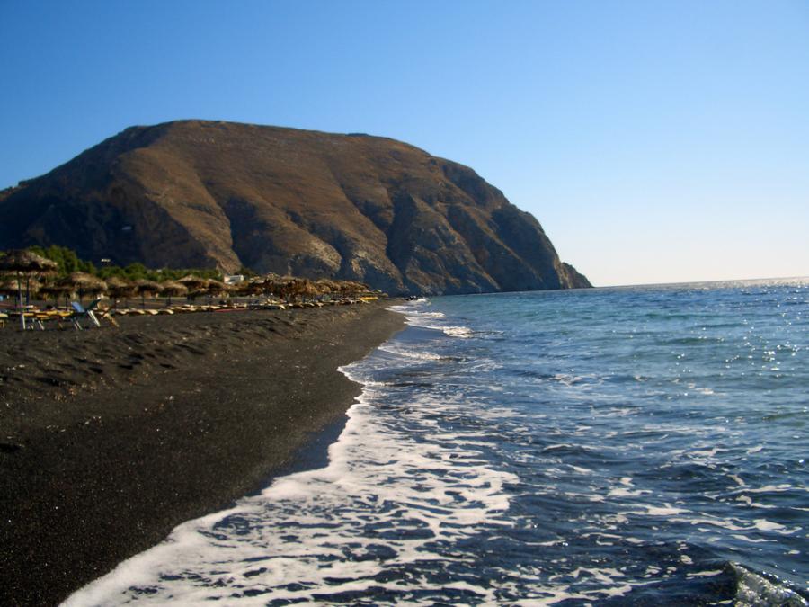 Plaża Perissa na Santorini