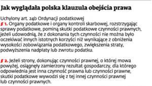 Jak wygląda polska klauzula obejścia prawa