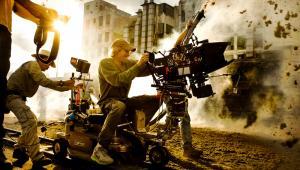 Michael Bay na planie filmu Transformers: Age of Extinction