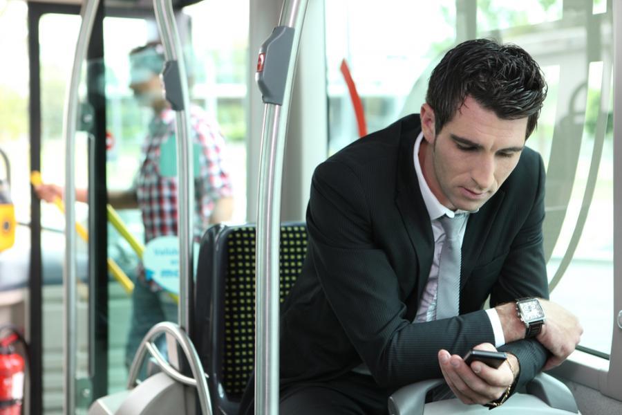 bilet, autobus, telefon