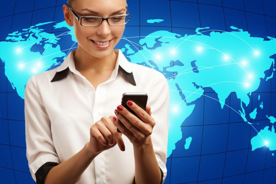 telekomunikacja, telefon, świat, kobieta