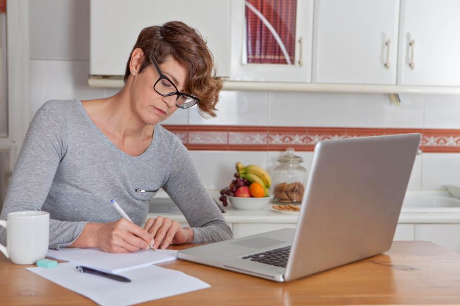 komputer, edukacja, komputer, praca, kobieta