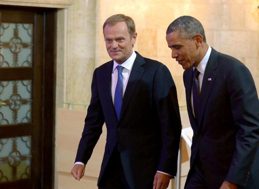 Donald Tusk i Barack Obama