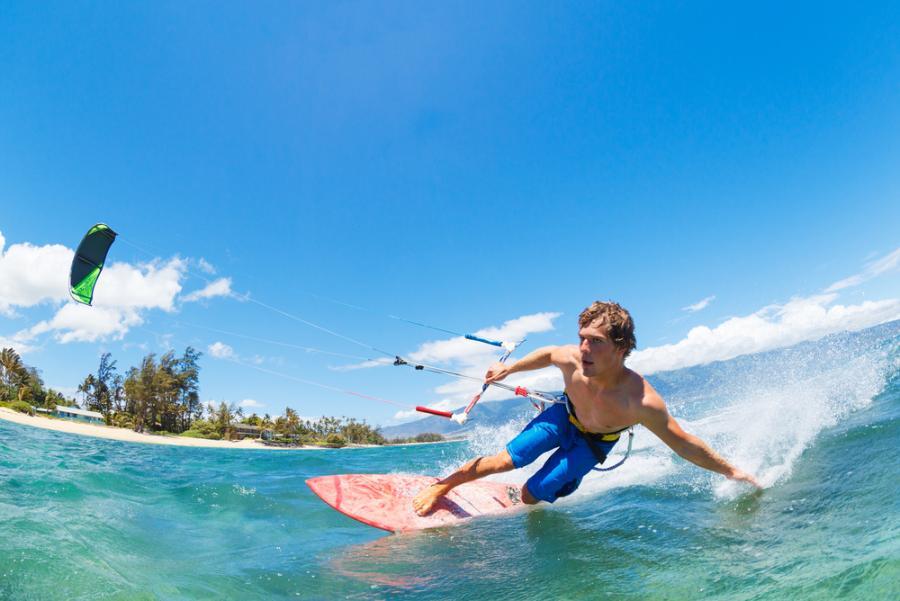 kitesurfing, sport, woda, turystyka, wakacje, urlop