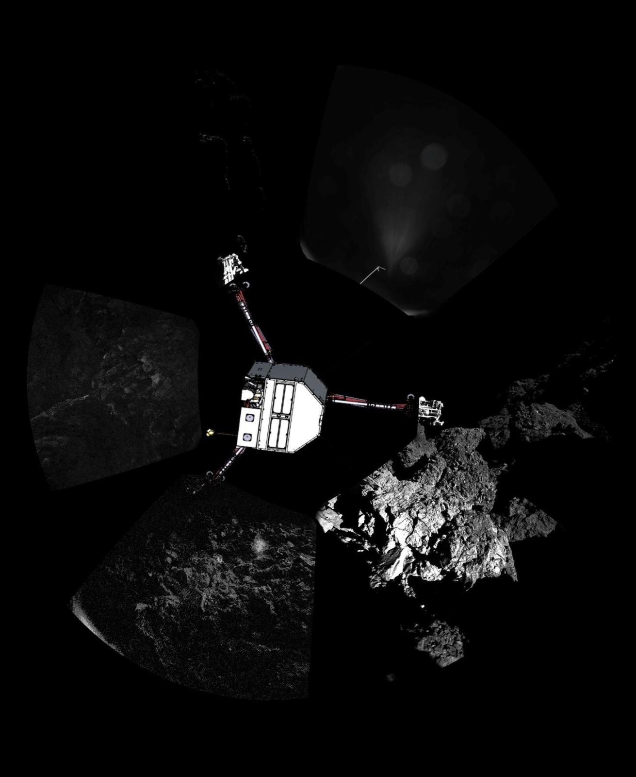 Sonda Philae, badająca kometę 67P Czuriumow-Gierasimienko