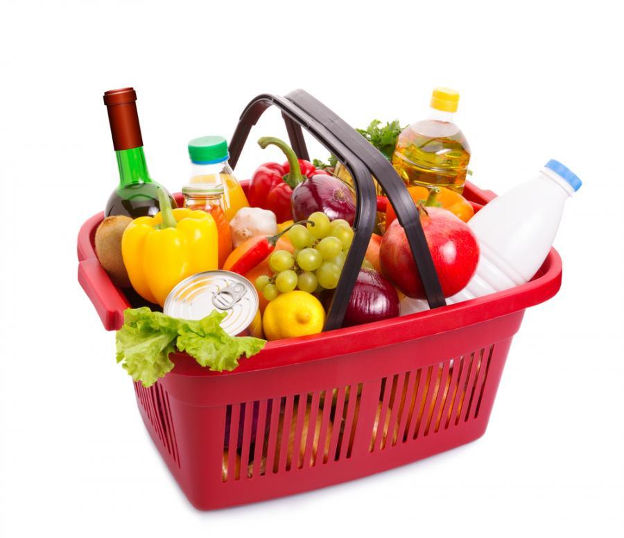 koszyk, jedzenie, żywność
