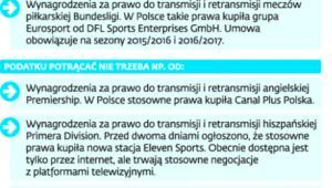 Które transmisje z podatkiem w Polsce, a które bez