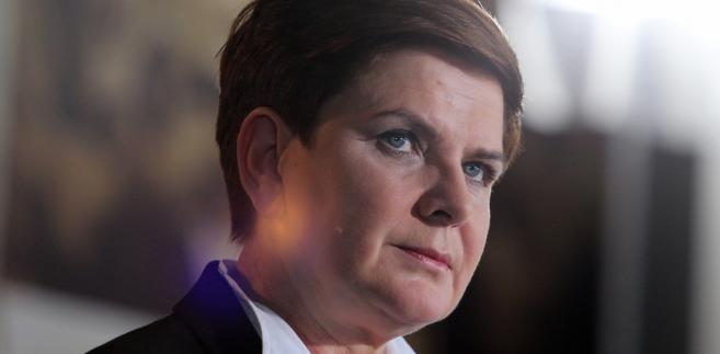 Wiceprezes PiS i kandydatka partii na premiera Beata Szydło