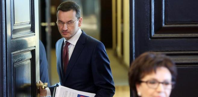 Wicepremier, minister rozwoju Mateusz Morawiecki oraz rzecznik rządu Elżbieta Witek