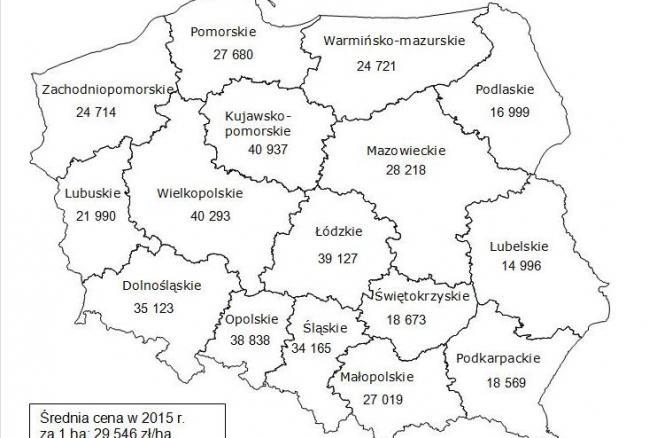 Niesamowite Mapa cen polskiej ziemi. Zobacz, ile kosztują grunty w naszym UV41