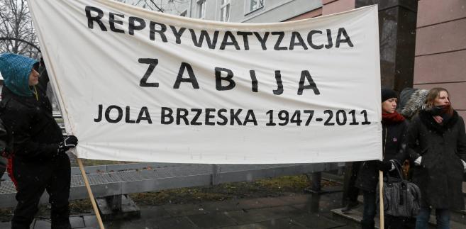 reprywatyzacja Jolanta Brzeska pikieta