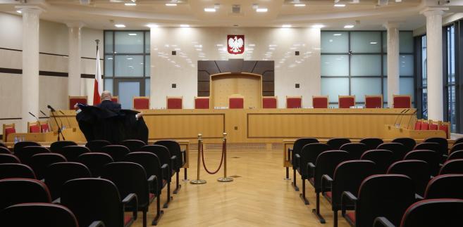 Sala rozpraw Trybunału Konstytucyjnego w Warszawie