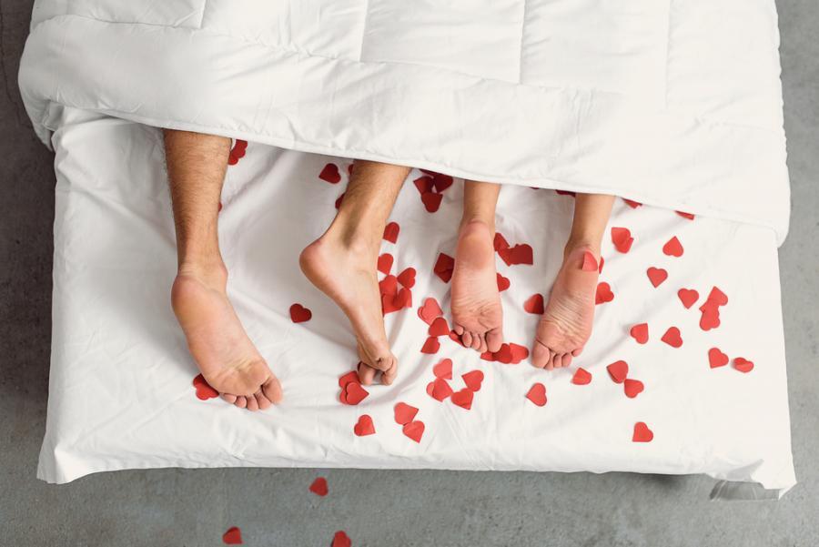 miłość, seks, para, łóżko