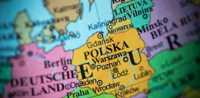 Polska, mapa