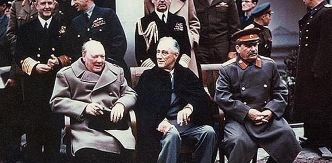 Jałta Churchill Roosevelt Stalin