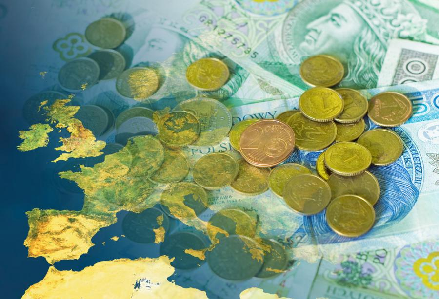 Polska waluta, złoty, Europa.