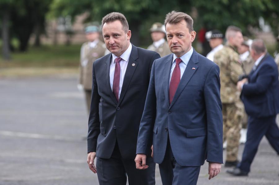 Szef Biura Ochrony Rządu nadinspektor Tomasz Miłkowski  i minister spraw wewnetrznych i administracji Mariusz Błaszczak