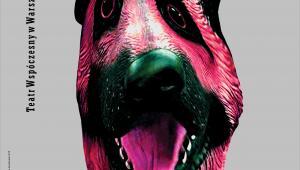 Plakat spektaklu Psie serce, projekt: Wojciech Freudenreich