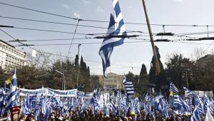 Ateny protest Macedonia jest w Grecji