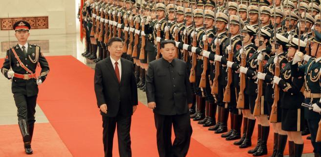 Kim Dzong Un w Chinach