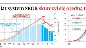 W pięć lat system SKOK skurczył się o jedną trzecią