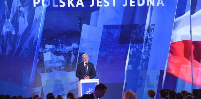 Jarosław Gowin na sobotniej konwencji PiS, na której zaproponował, aby rodzice głosowali także głosem swoich dzieci