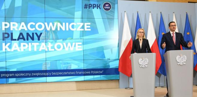 Premier Mateusz Morawiecki oraz minister finansów Teresa Czerwińska