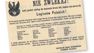 Ulotka zachęcająca do zaciągnięcia się do Legionów Polskich