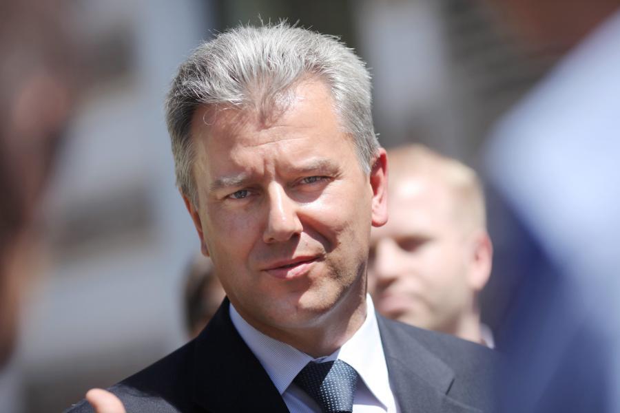 Minister infrastruktury Cezary Grabarczyk otwiera listę PO w woj. łódzkim.