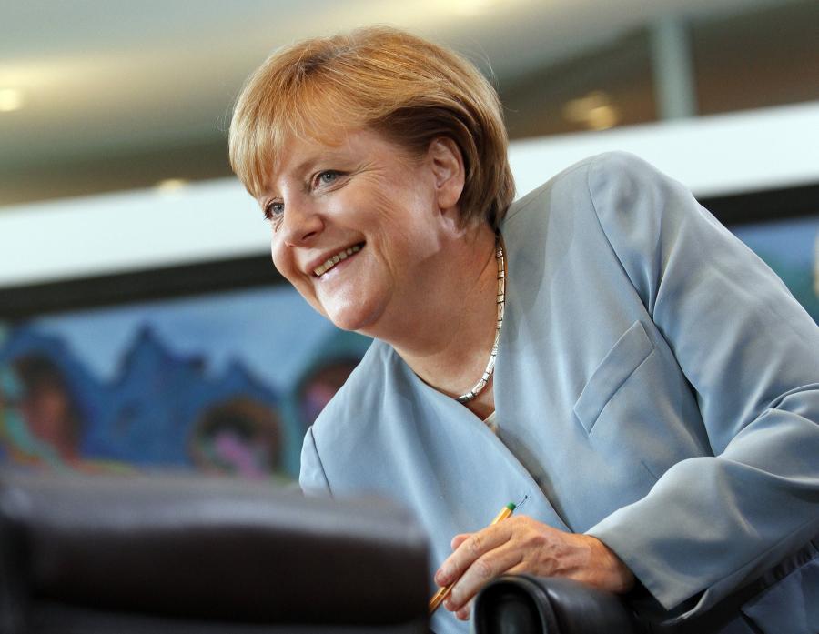 Angela Merkel. Fot. Michele Tantussi/Bloomberg