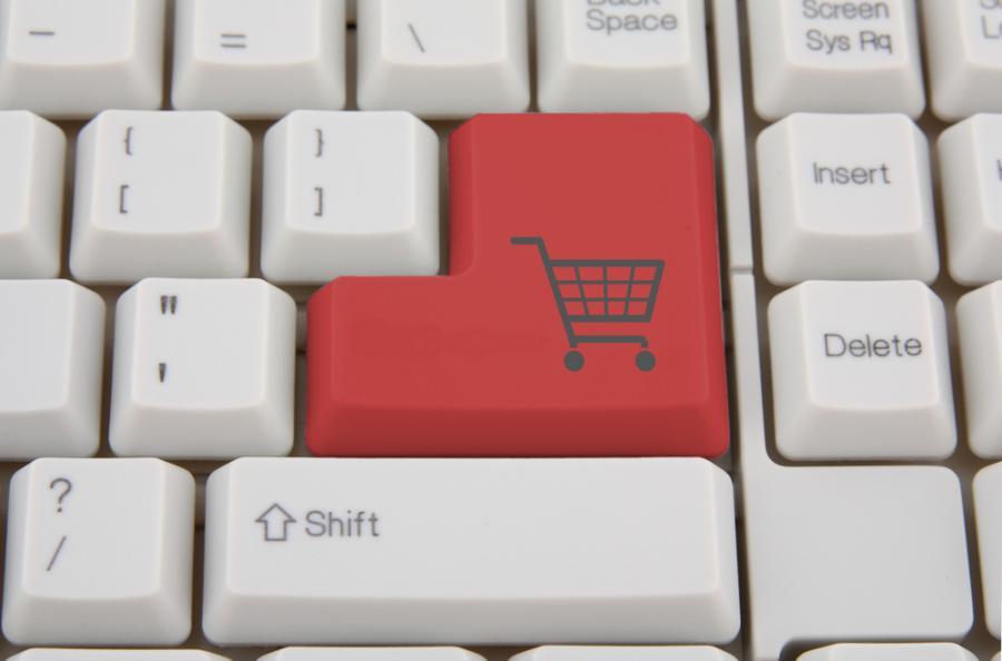 zakupy w internecie, klawiatura, sklep, internet