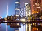 Guangzhou International Finance Center w Chinach. Budynek ma wysokość 438 metrów.