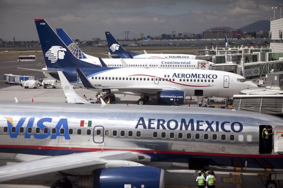 Samoloty meksykańskiego przewoźnika AeroMexico.